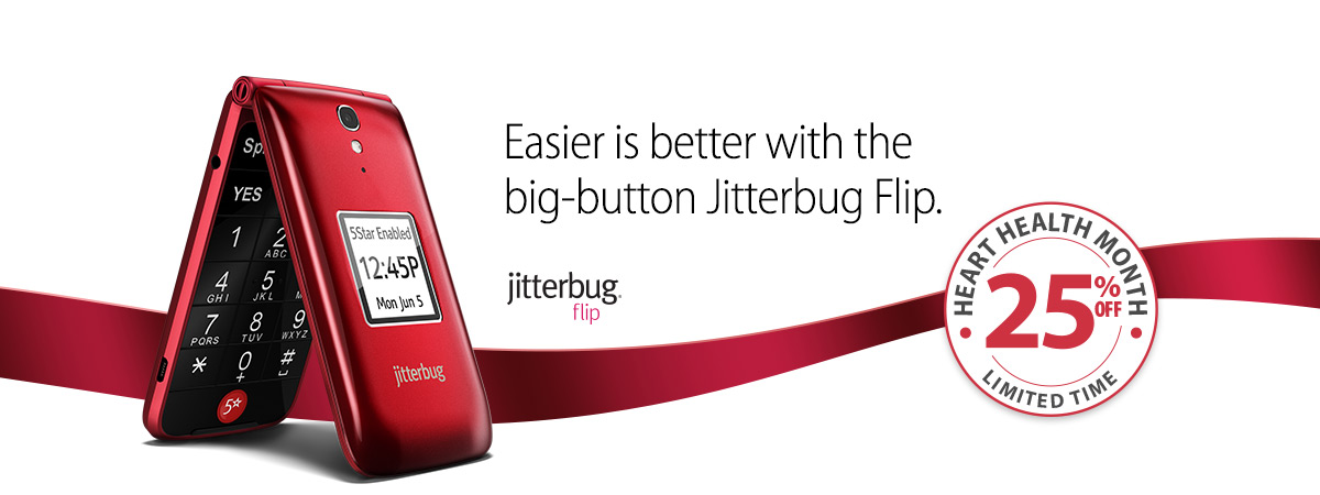 Jitterbug Flip Best Basic Big Button Cell Phone For