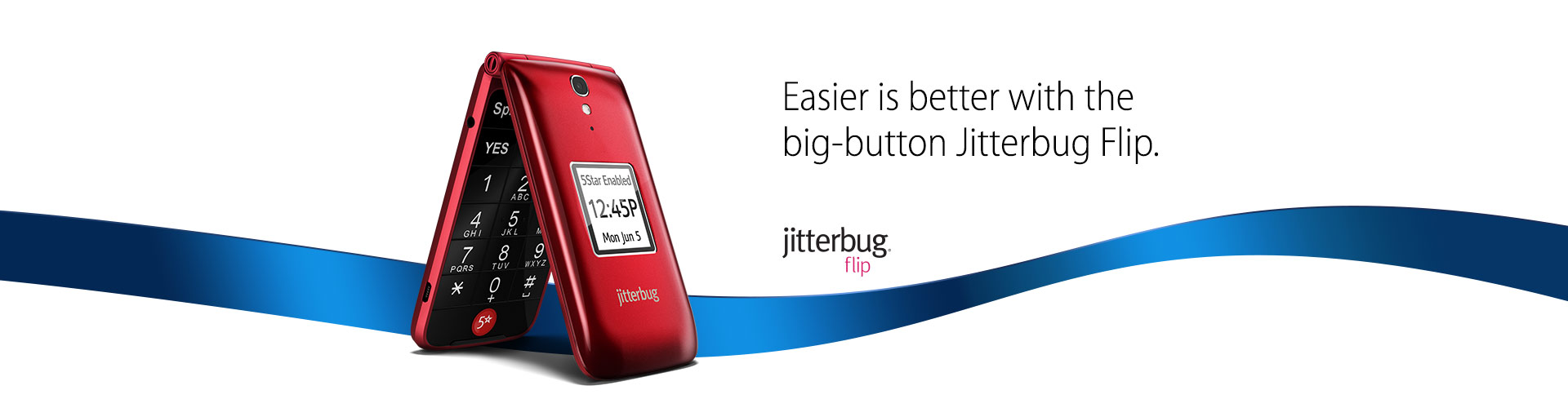 Easier is better with the big-button Jitterbug Flip